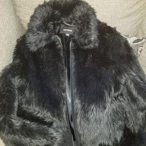Express Womens Faux Fur Jacket